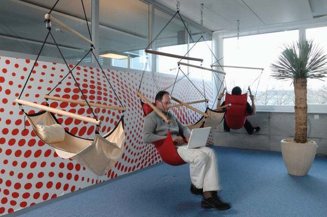 8 Of Googles Craziest Offices Business design Hanging chairs