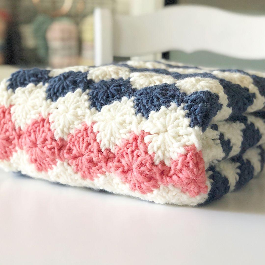 Crochet Harlequin Stitch Blanket - Daisy Farm Crafts ...