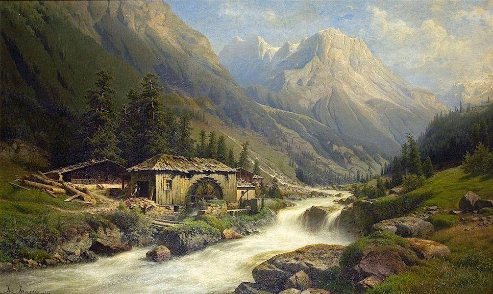 картина альпийская идиллия тундры хоть излишне