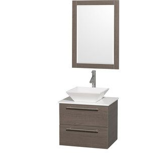 Wyndham Collection Wcr410024 Single Sink Bathroom Vanity Wall