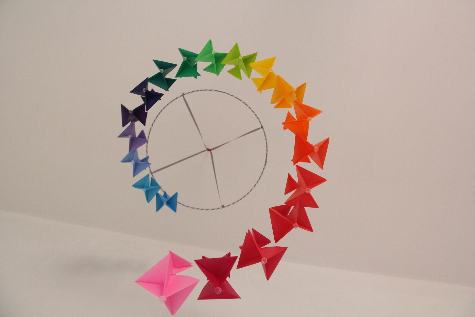 mobile pour b b en origami fait main d coration pour enfants par lizoo88 nursery pinterest. Black Bedroom Furniture Sets. Home Design Ideas
