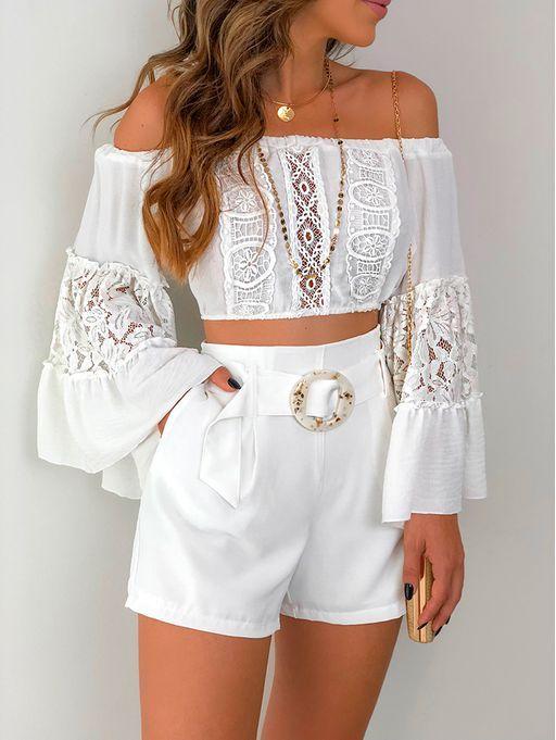Shorts Vanilla Off White Ropa Em 2019 Blusas Roupas E