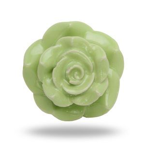 Large Ceramic Mitchy Flower Knob In Green - door knobs & handles ...