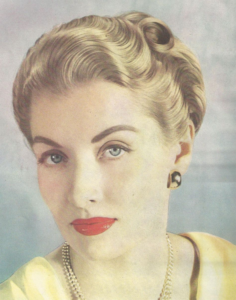 short hair bob styles from a 1947 vogue showing the compact styling of the late 1945 | 55e9b4d7590d0fe6831785a28bf67c5e