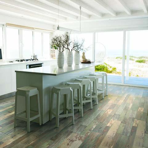 Stowe Painted Pine Textured Laminate Floor Multi Color