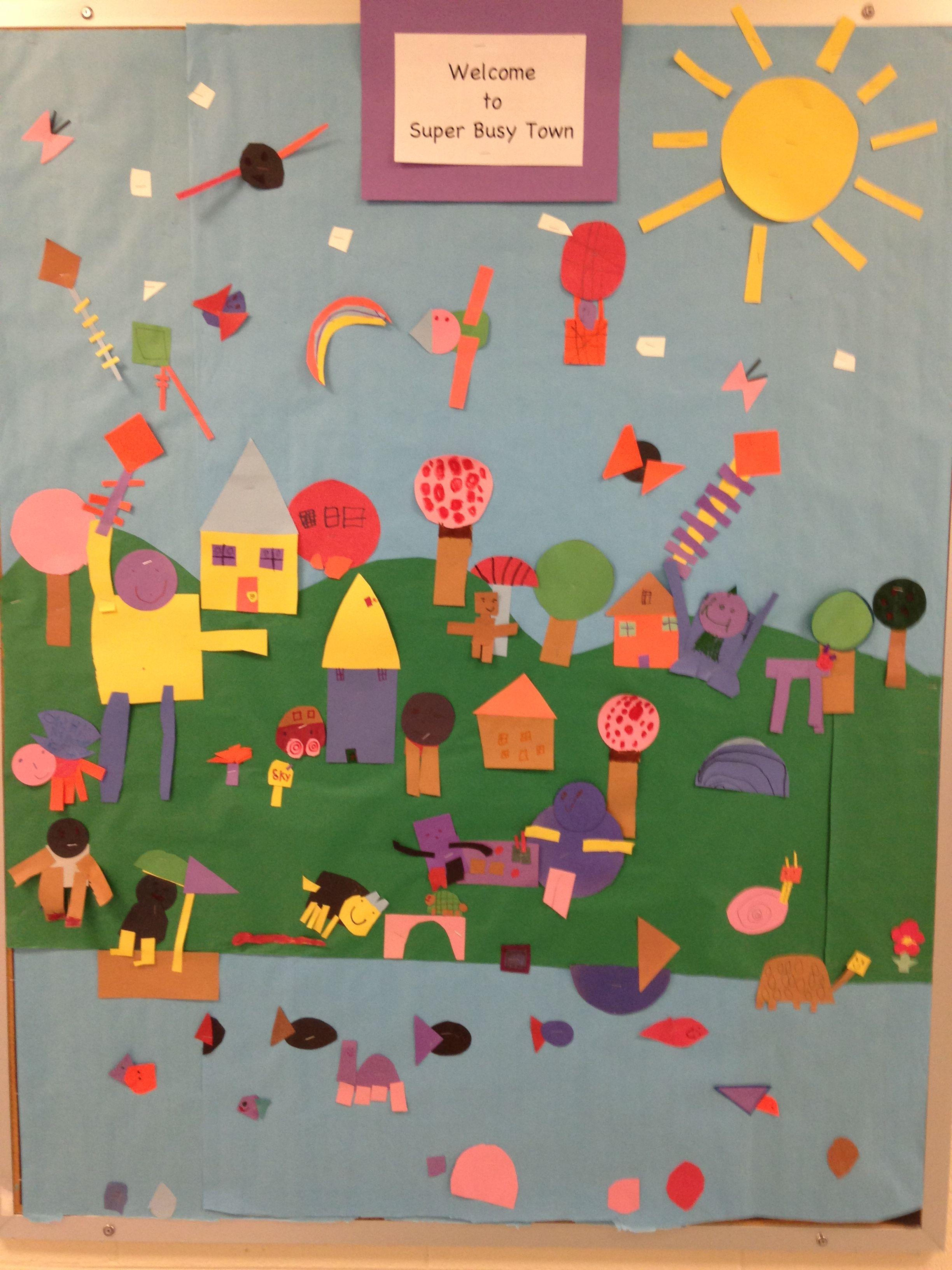 Shape Mural Kindergarten