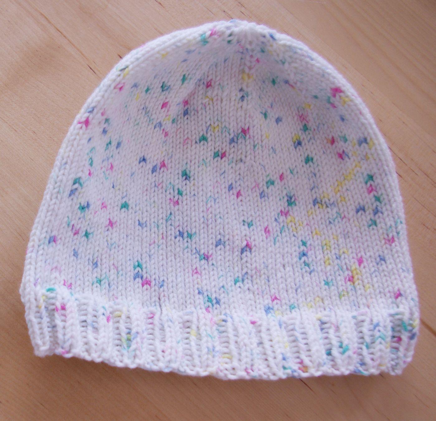 Einfache Strickmütze Mütze stricken Baby mini Anleitung | Abdruck ...