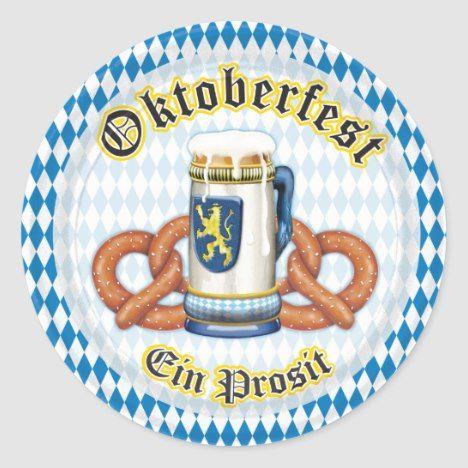 OPUS Oktoberfest Classic Round Sticker | Zazzle.com #octoberfestfood