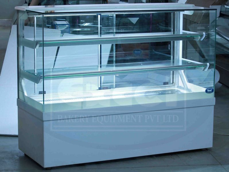 Acrylic Box Bangalore : Bend glass display counter bakery showcases deli