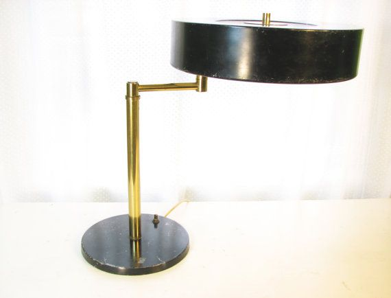Early, Rare Walter Von Nessen Swing Arm Desk Lamp / Table Lamp // Brass