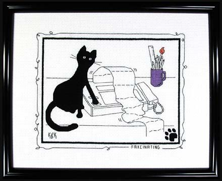 CALICO CROSSROADS KITTY LITTER CROSS STITCH PATTERN