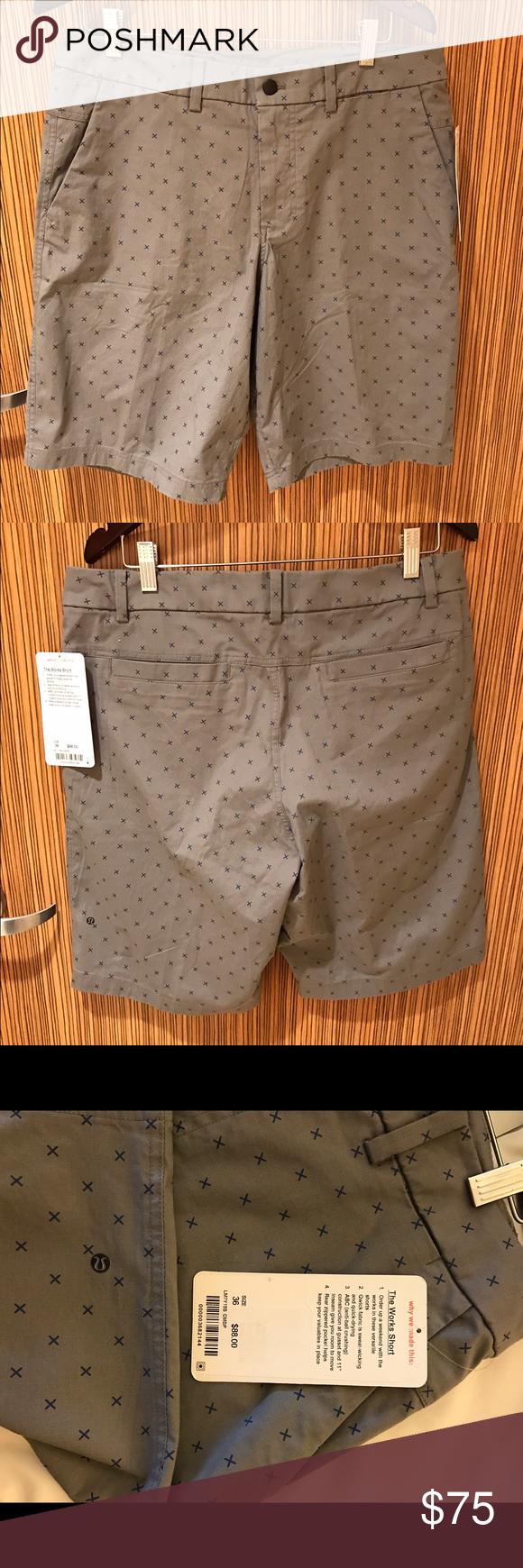 NWT - Lululemon 'The Works Shorts' Men's Size 36 Lululemon's 'The Works' Shorts.  Men's size 36. Brand new with tags!! lululemon athletica Shorts Flat Front