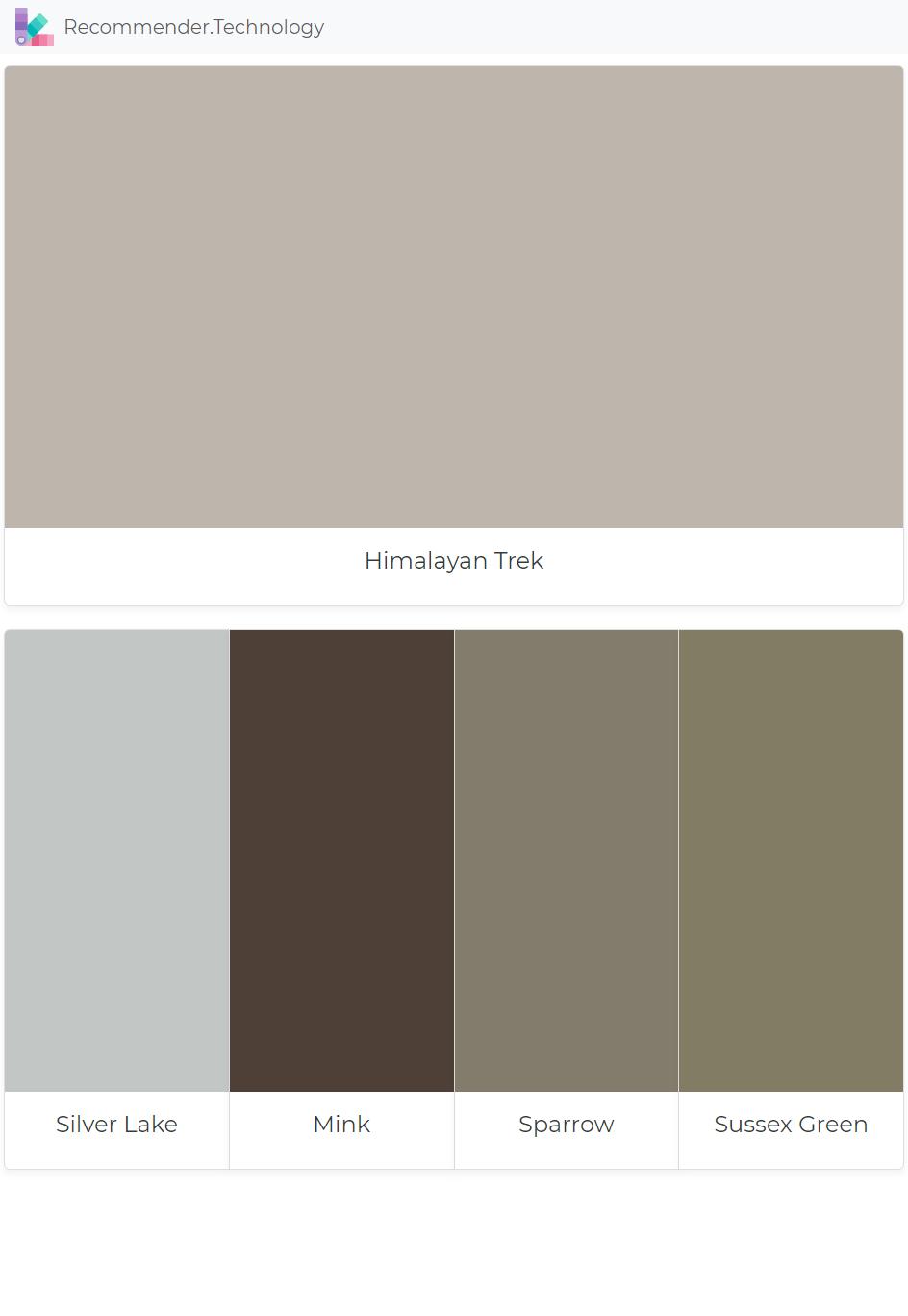 Himalayan Trek Silver Lake Mink Sparrow Sussex Green House Color Schemes Grey Exterior Paint Colors Benjamin Moore