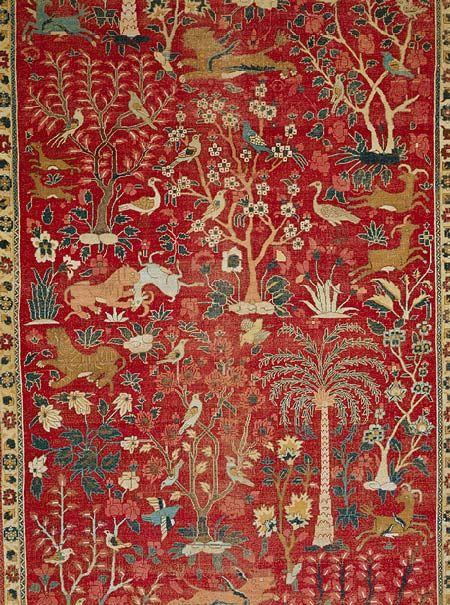 Carpet With Palm Trees Ibexes And Birds The Met Persian Rug Designs Antique Carpets Rugs On Carpet
