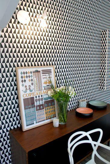 r novation maison un s jour la d coration scandinave tendance papier peint papier peint. Black Bedroom Furniture Sets. Home Design Ideas