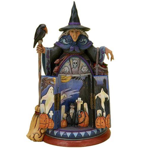 Jim Shore Halloween   Jim Shore HALLOWEEN WITCH W/ HIDDEN SCENE 4021135