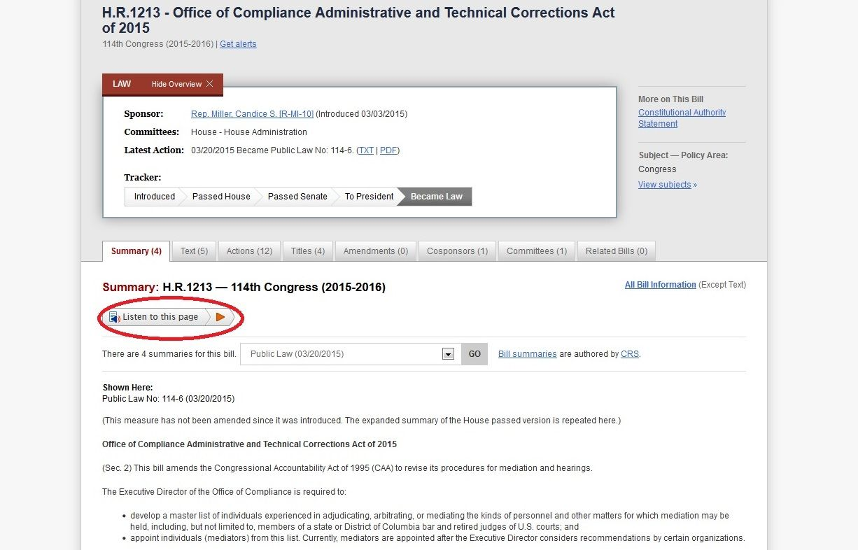 New Features Added To Congress Gov Based On Your Feedback In Custodia Legis Administration Ads Feedback