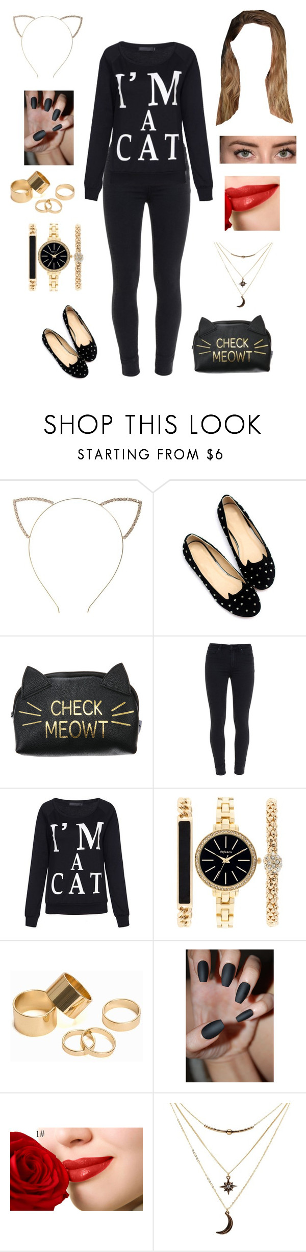"""Untitled #654"" by cutiepie92343 on Polyvore featuring Cara, Paige Denim, Style & Co., Pieces and Charlotte Russe"