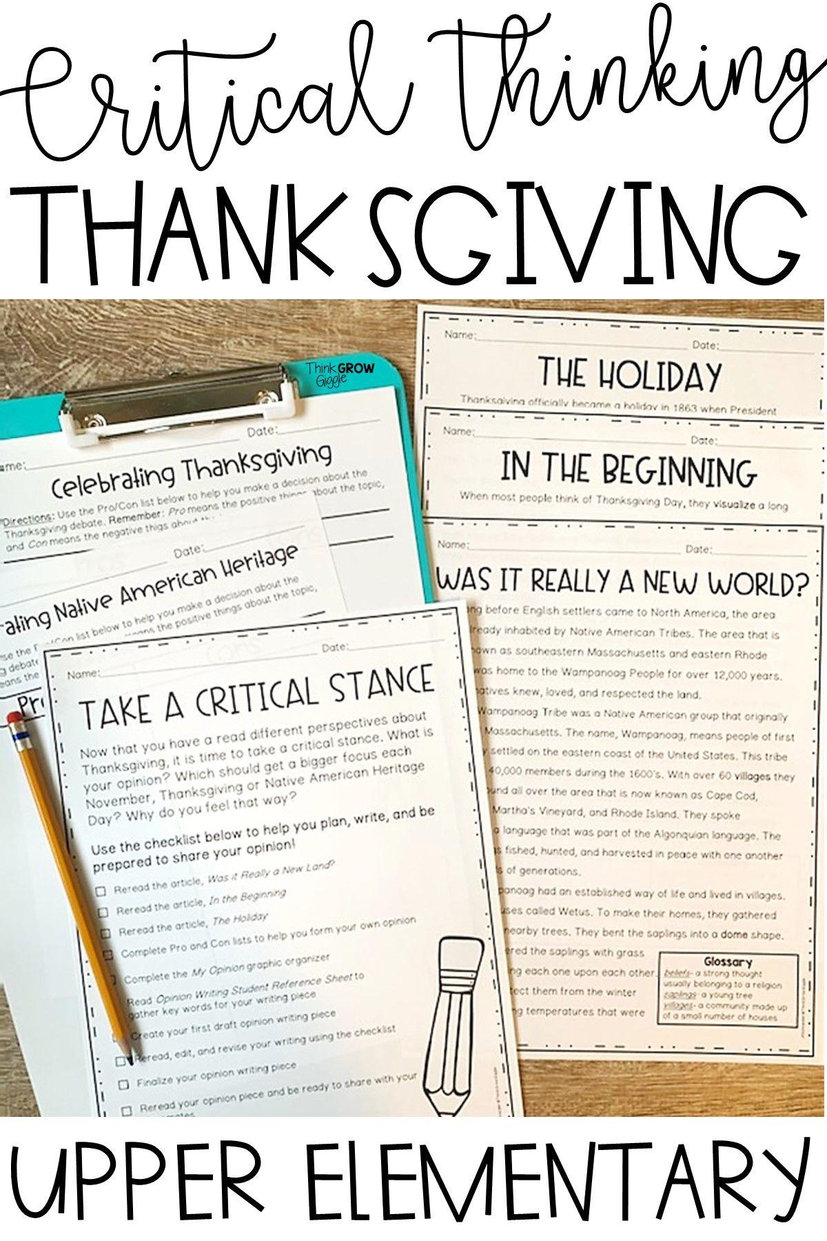 Thanksgiving Debate
