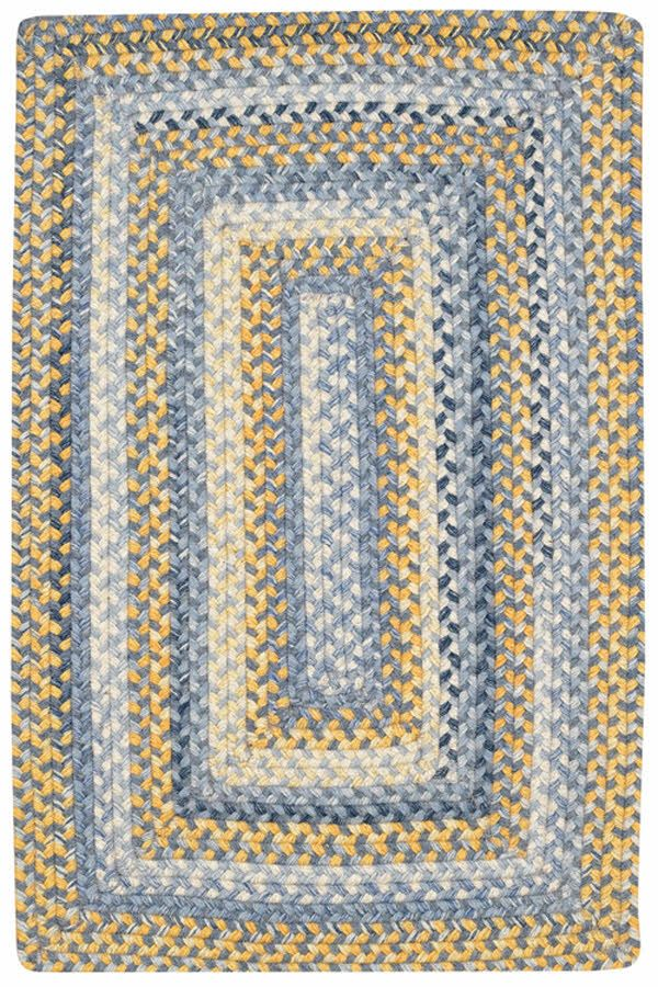 Capel Prairie Blue Yellow Area Rugs White