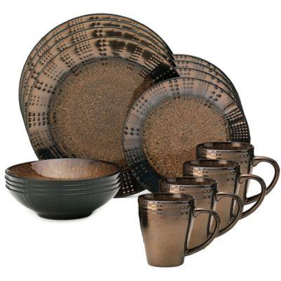 Gourmet Basics by Mikasa® Verona 16-Piece Dinnerware Set in Brown - .  sc 1 st  Pinterest & Mikasa Verona 16-Piece Dinnerware Set in Brown | Verona Dinnerware ...