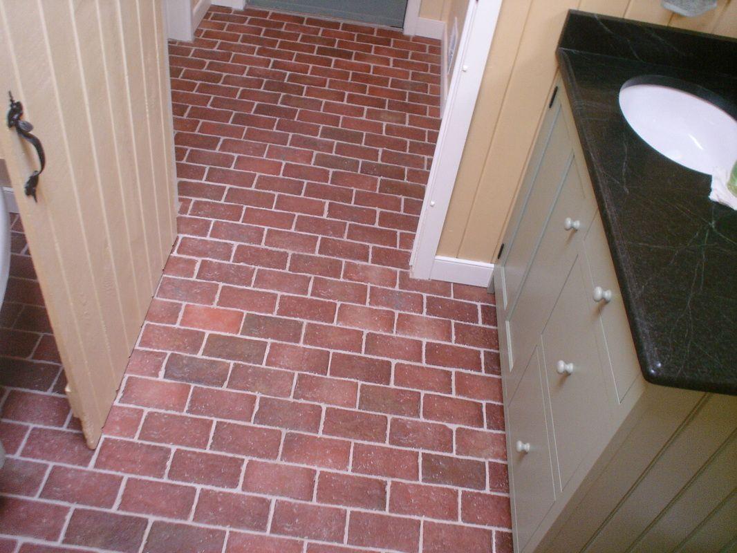 bathrooms - inglenook brick tiles - thin brick flooring, brick