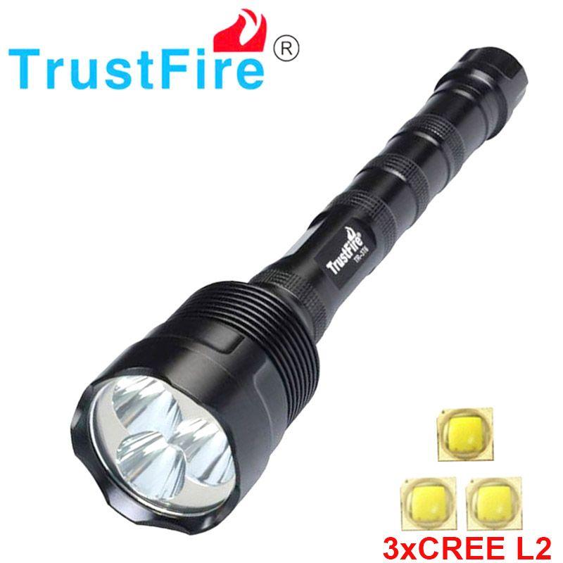 Trustfire 3l2 3800 Lumens Flashlight 3x Cree Xm L2 5mode Led Flashlight Torch Lamp Can Use 2x 18650 3x 18650 Torch Led Flashlight Flashlight Led Can Lights