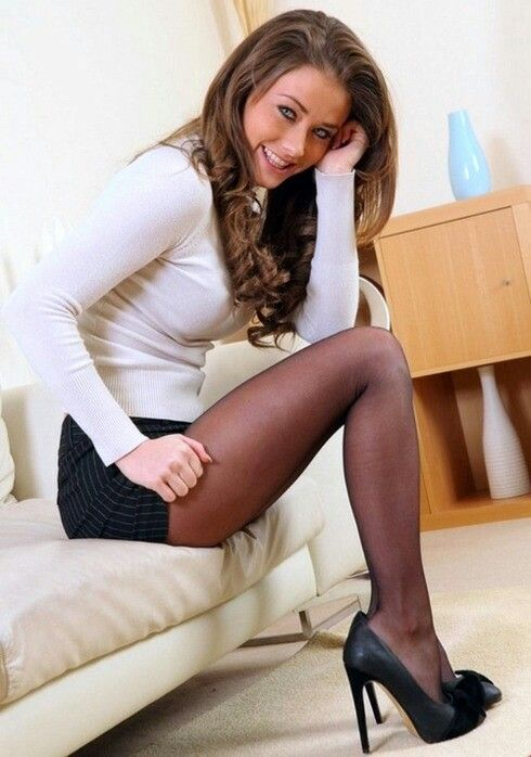 Sexy woman in black stockings