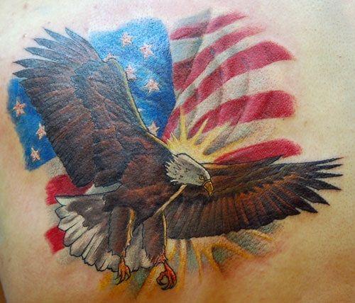 American Eagle Flag Tattoo Full Eagle American Flag Tattoo