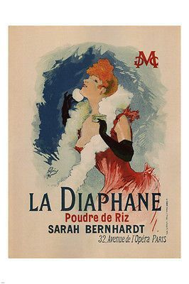 La Diaphane Vintage French France Poster Picture Print Advertisement