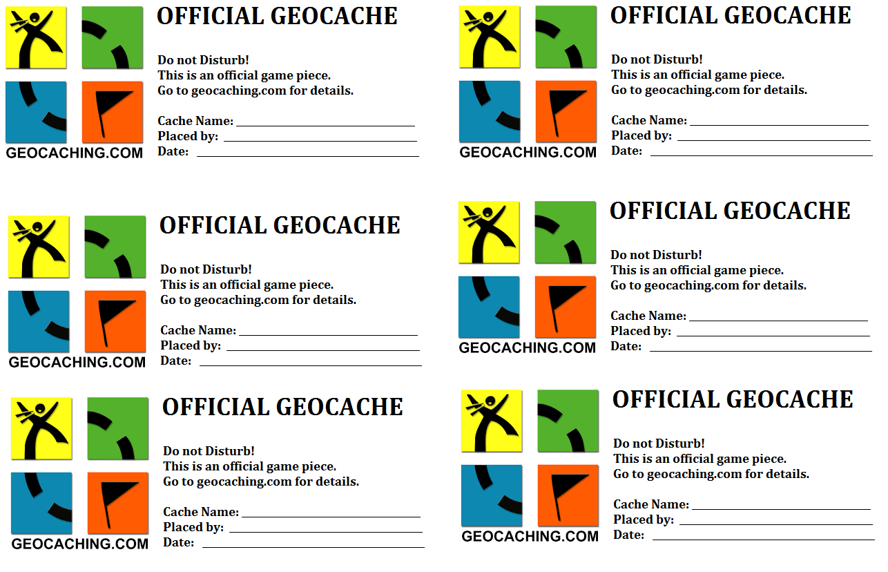 photograph about Official Geocache Printable known as Printable labels for boxes produced by way of a few-dancing-canines