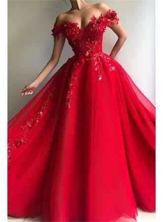 Elegante Abiballkleider Lang Günstig | Rote Abendkleider ...
