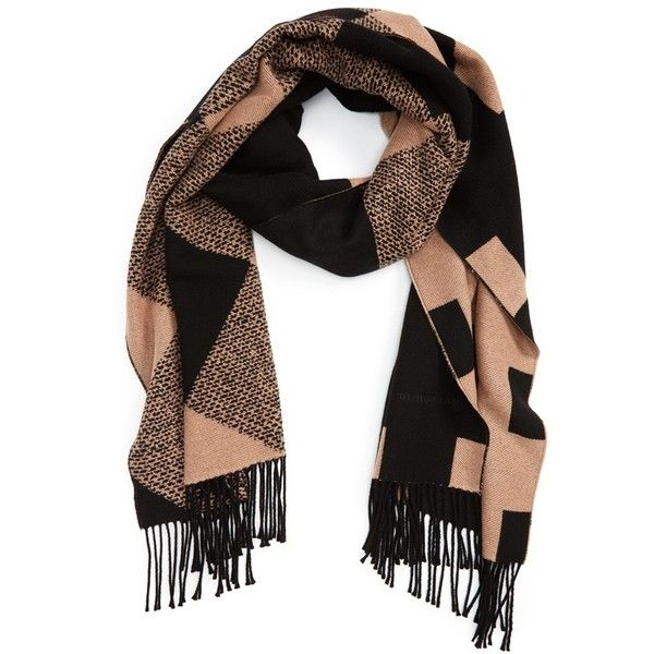 0354c6469ff8 Women s Burberry Check Print Cashmere Scarf ( 1,150) ❤ liked on Polyvore  featuring accessories,
