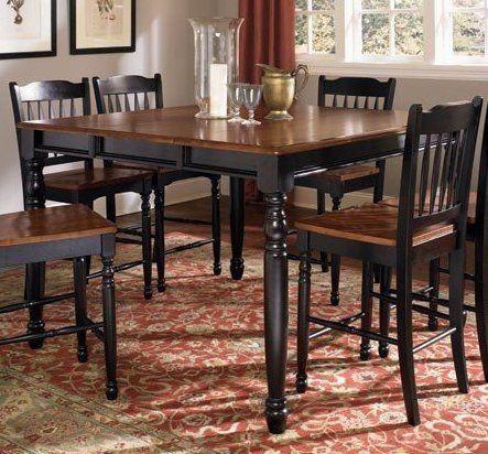 200 900 In Jax Big Table Seats 6 Comfortably 6 Tall Pub Chairs With Lots Of Room To Spare Normal Wear Dining Table Chairs Dinning Room Sets Dining Table