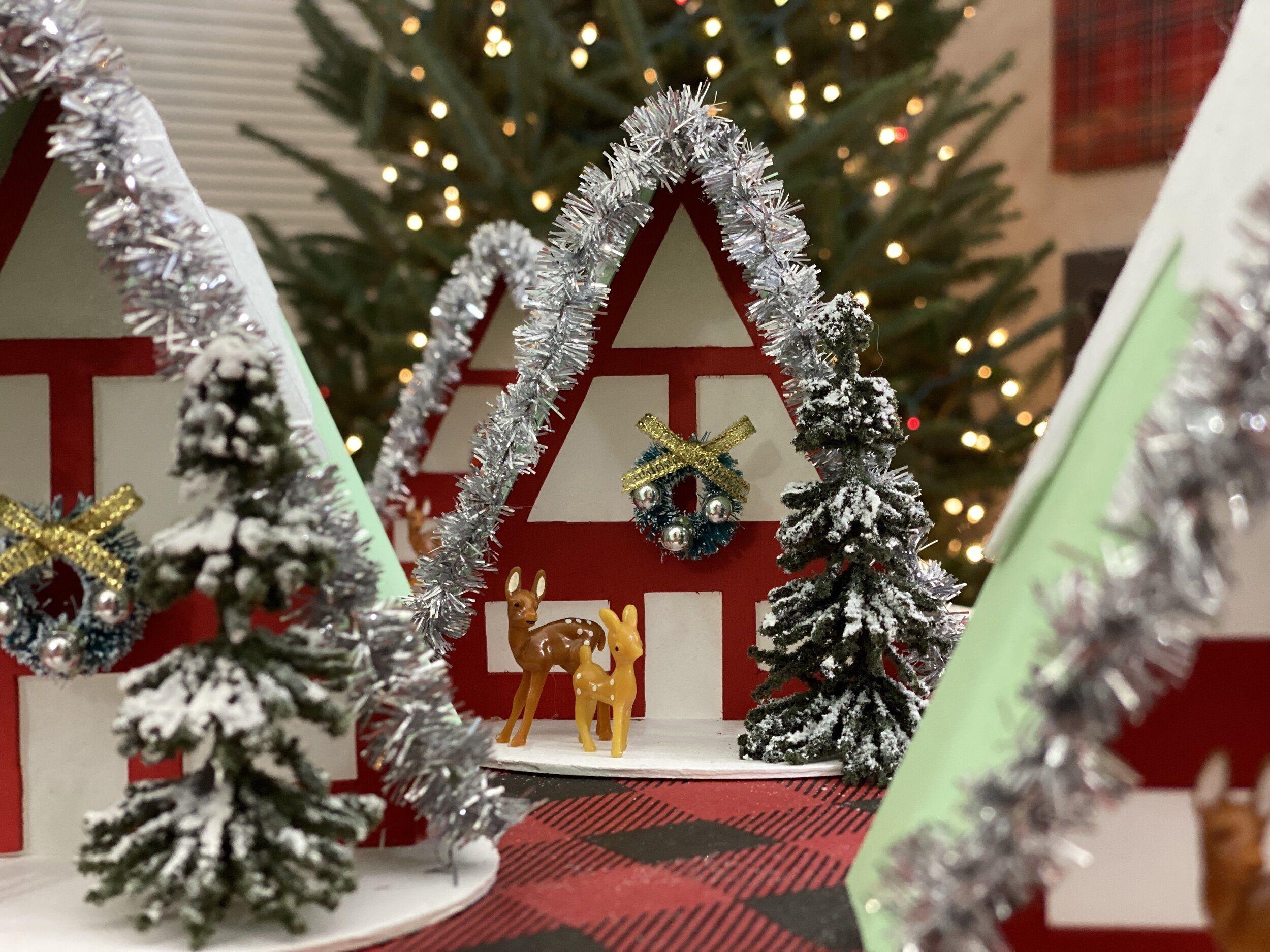 Diy Cricut Maker Wooden A Frame Ornaments Diy Candy Cane Lane Christmas Tree Make Mini Vintage Christmas Tree Christmas Tree Ornaments Silver Christmas Tree