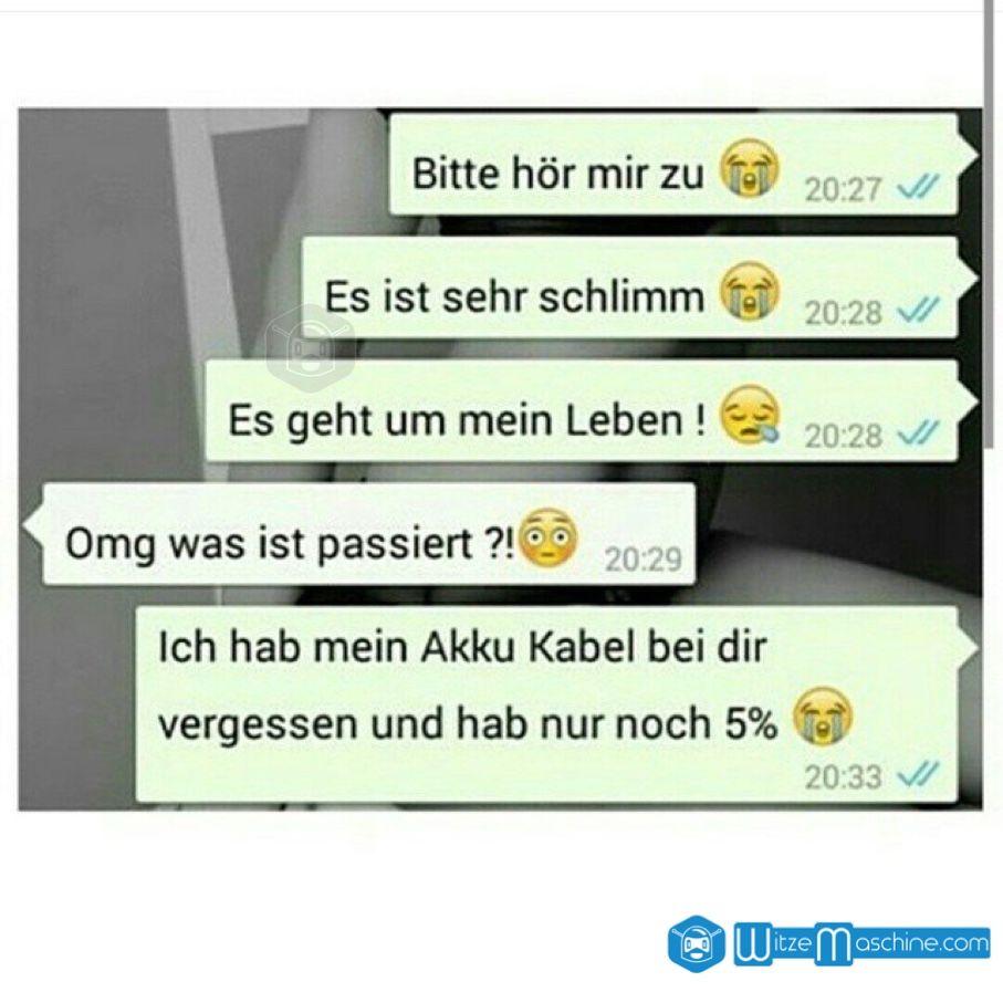 Lustige WhatsApp Bilder und Chat Fails 71 - Kein Akku - WitzeMaschine