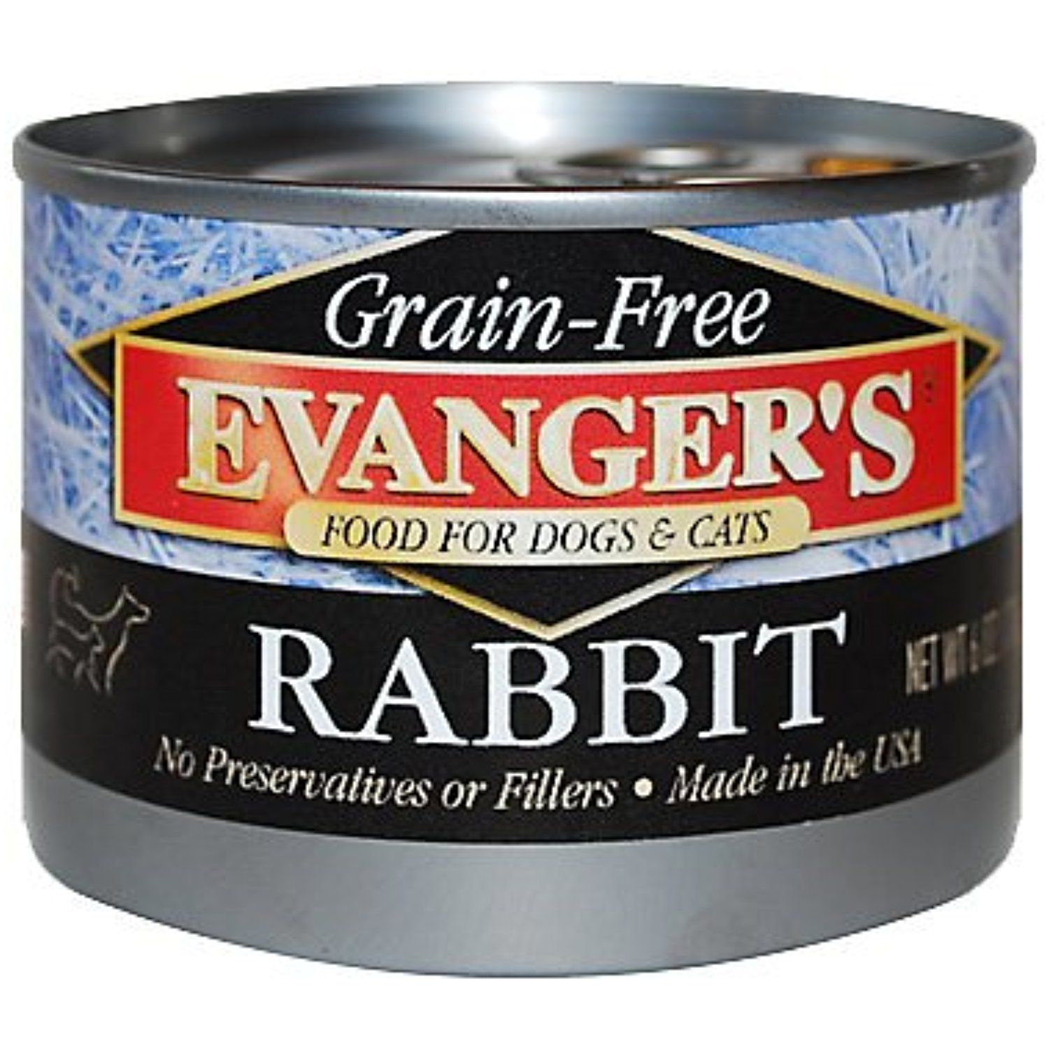 Evanger's GrainFree Rabbit Canned Food 24/6oz cans