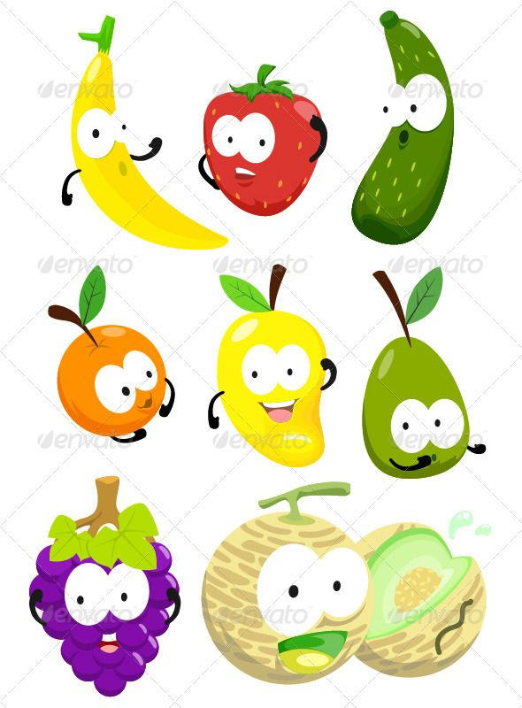 toon fruit pack one graphicriver a pack of full editable toon fruit