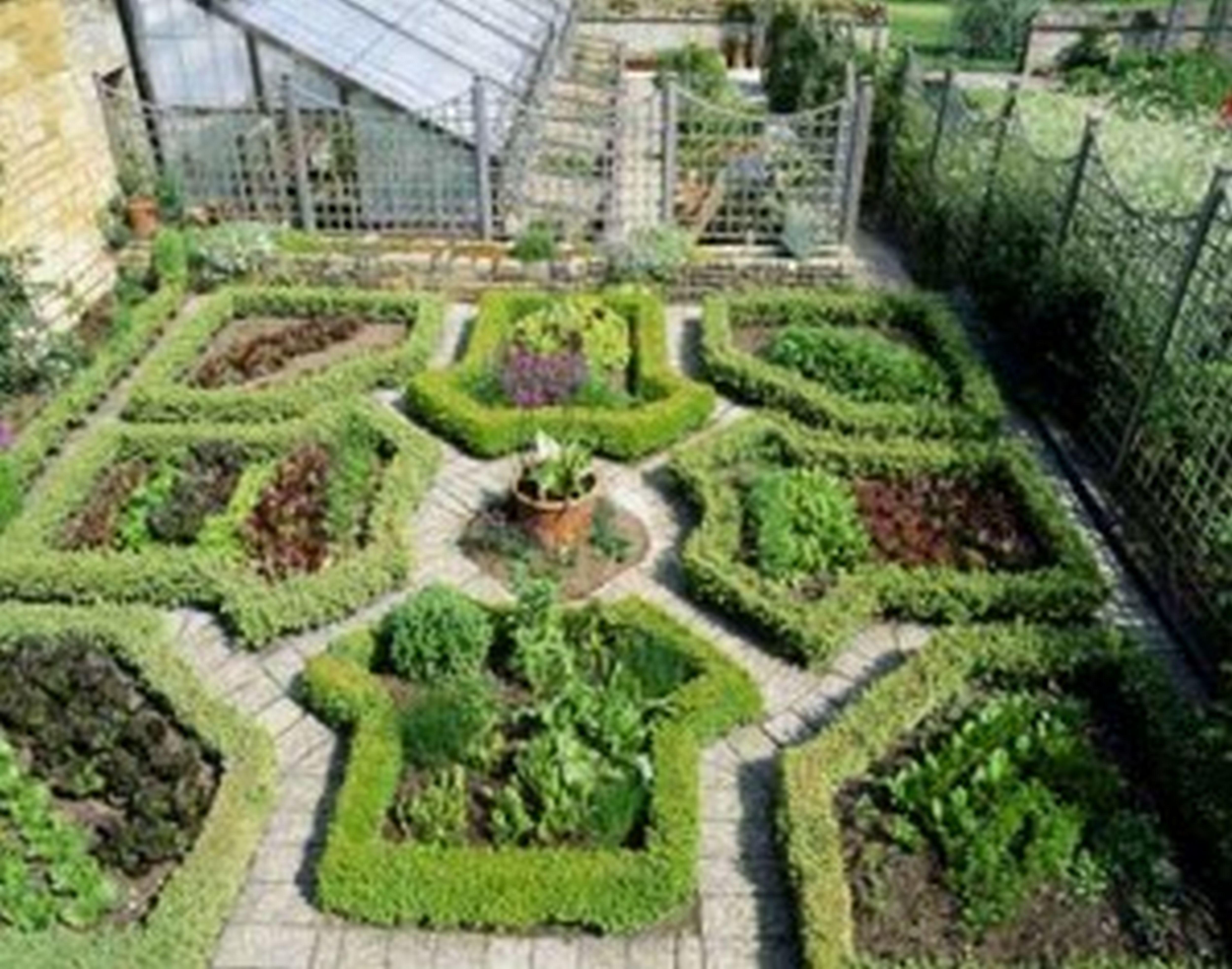Creative Vegetable Garden Ideas Part - 45: Beautiful Formal Garden Design · Edging IdeasVegetable ...