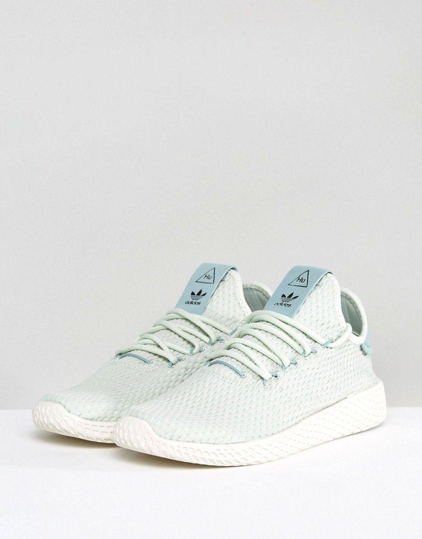 f0f7a1079 adidas Originals X Pharrell Williams Tennis HU Sneakers In Pale Green