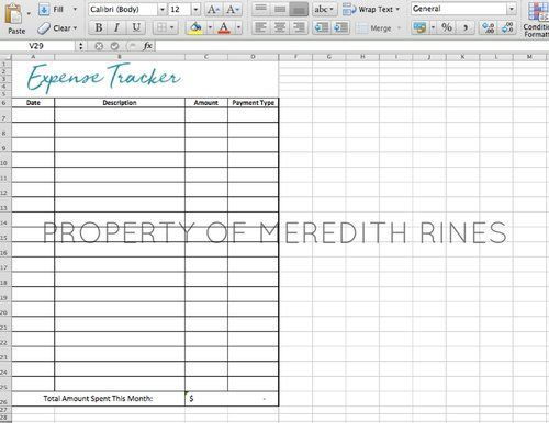 excel expense tracker   emmamcintyrephotography/business - budget spreadsheet template for business