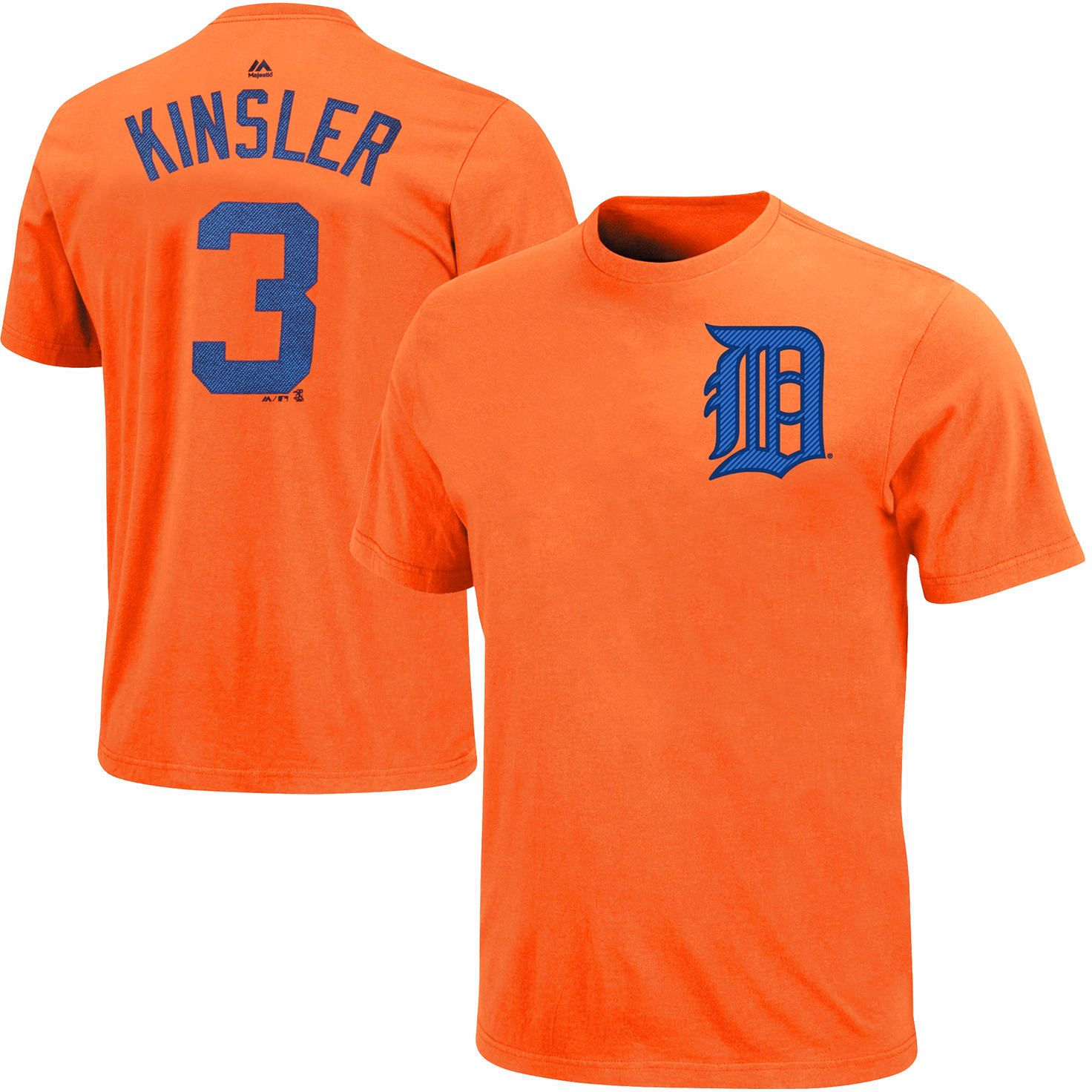 Ian Kinsler Detroit Tigers Majestic Official Name and Number T-Shirt - Orange - $27.99