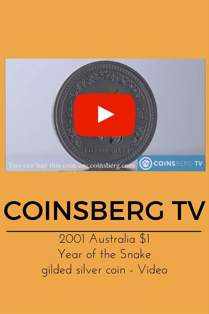 Coinsberg TV: 2001 #Australia $1 silver gilded #coin Year of
