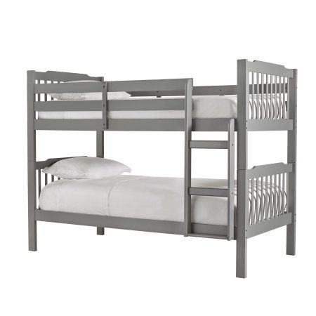 Chelsea Lane Elise Bunk Bed Multiple Finishes Gray Products