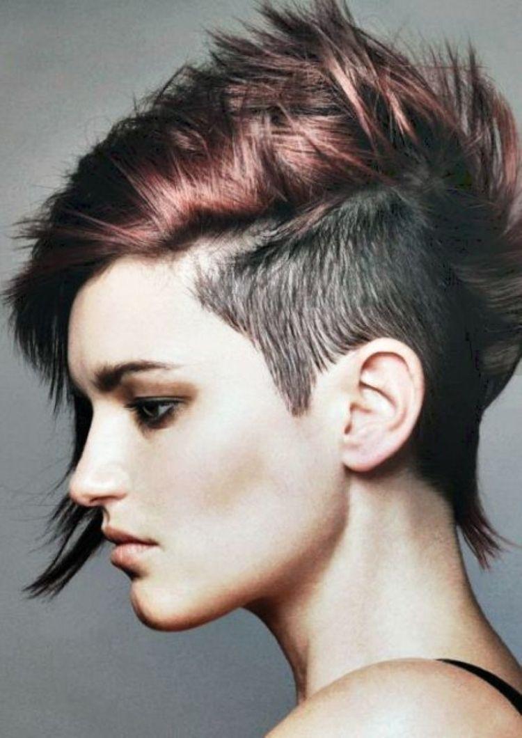 80er Frisuren Kurze Haare Seitlich Abgeschnitten Rasiert Straenchen