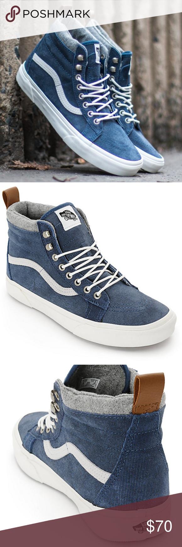 42fcf28febe VANS  SK8-Hi MTE Skate Demin Suede Blue Shoes NEW WITH BOX VANS SK8