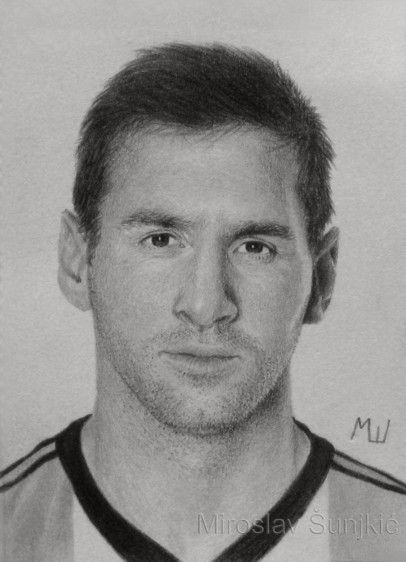 Graphite pencil drawing of leo messi by miroslav sunjkic leomessi messi soccer football pencil portrait art graphite drawing realistic artwork