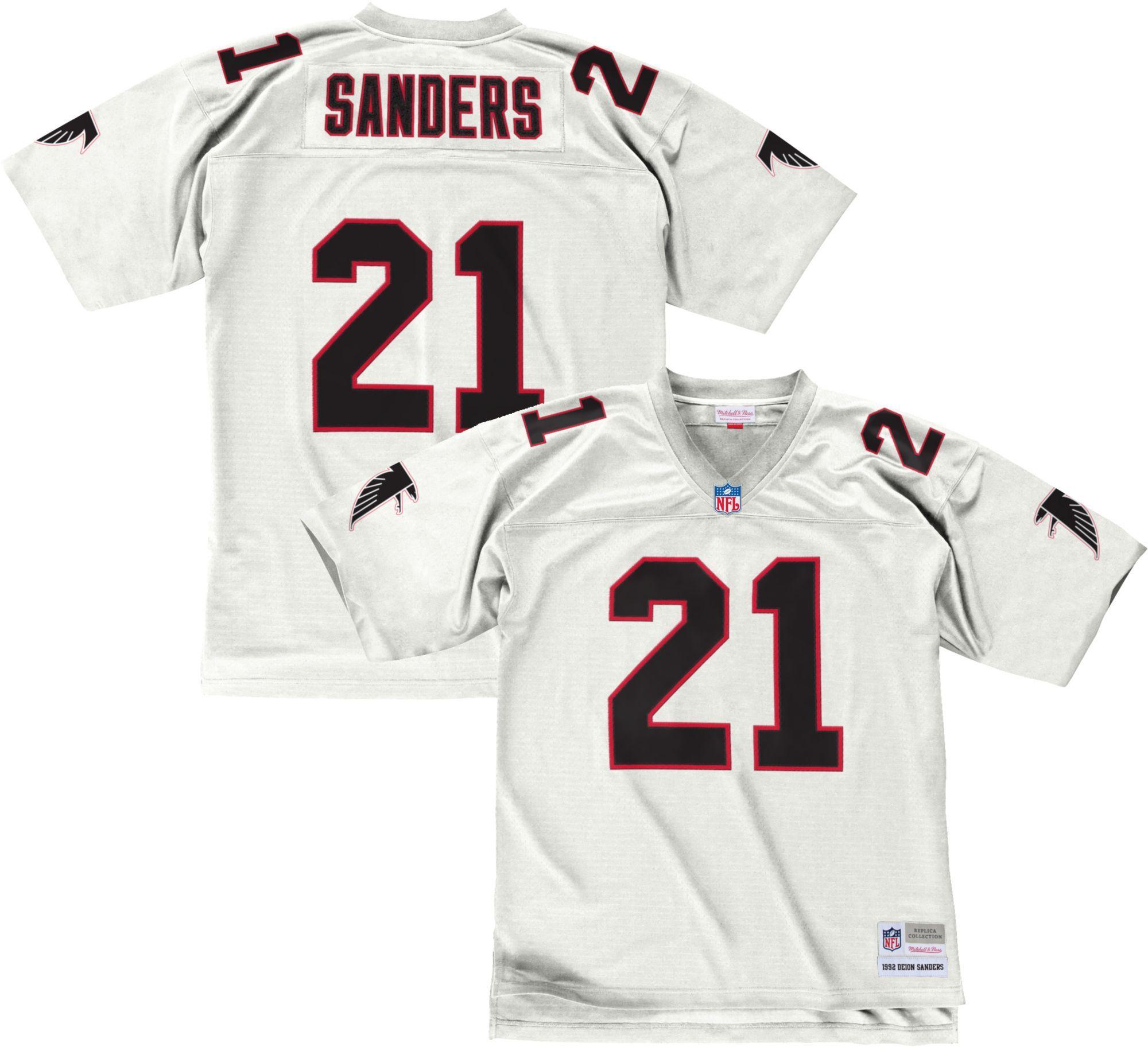 Mitchell Ness Men S 1992 Home Game Jersey Atlanta Deion Sanders 21 Atlanta Falcons Falcons Uniform Design