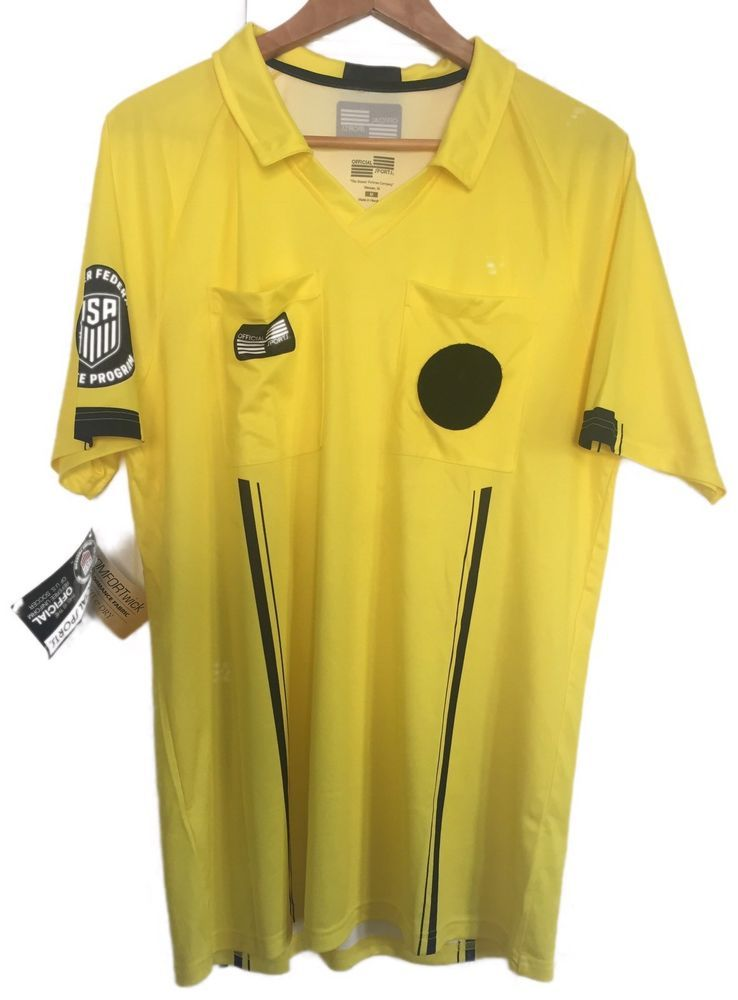 eb02383a6 Soccer Referee Shirt New With Tags Yellow Official Sports M US soccer  Federation  OFFICIALSPORTS  Jerseys  soccer  Referee  TheBeautifulGame