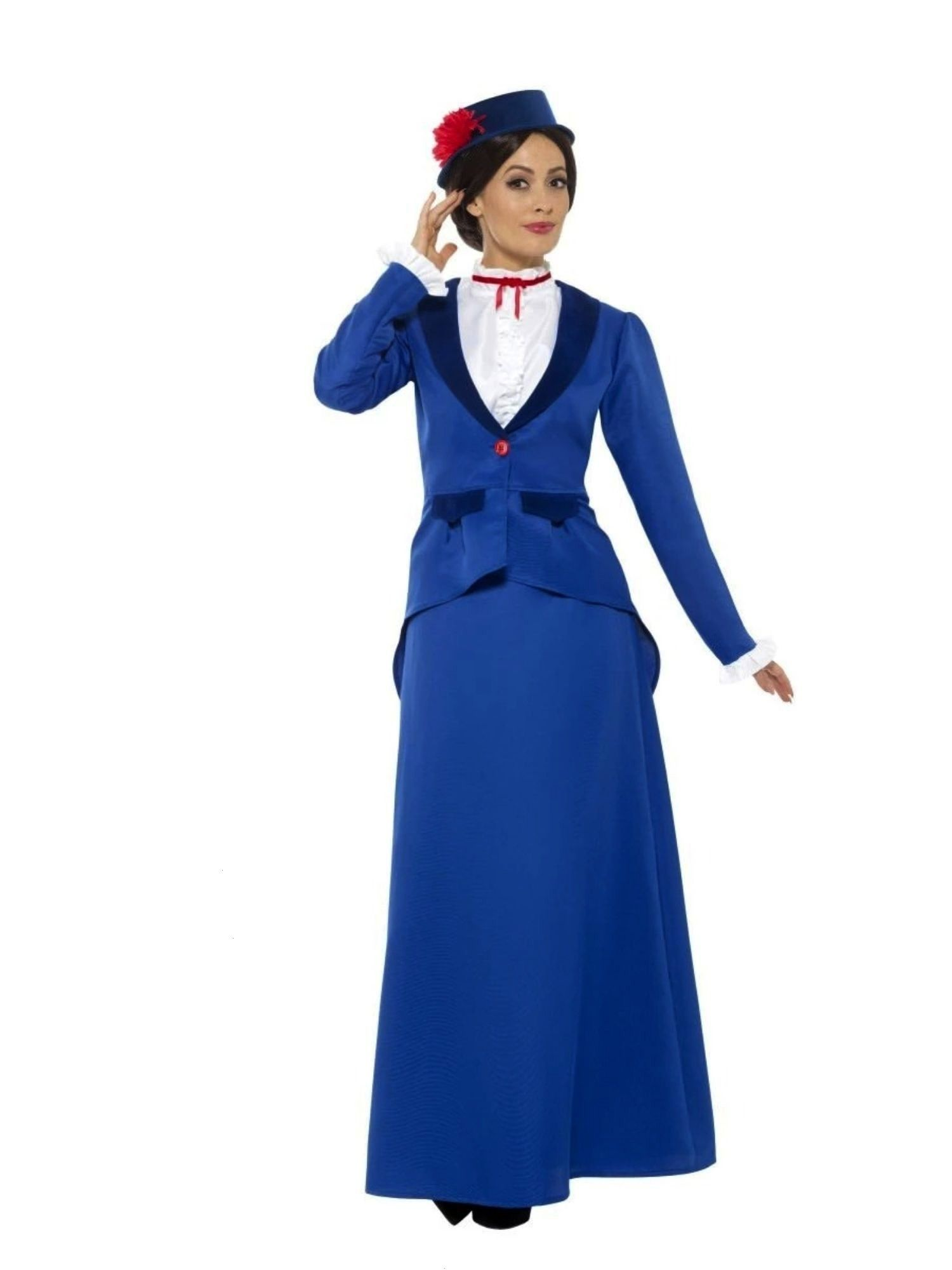 Blue and White Victorian Nanny Women Adult Halloween Costume  Medium  33484346Adult 41 Blue and White Victorian Nanny Women Adult Halloween Costume  Medium The Effective...